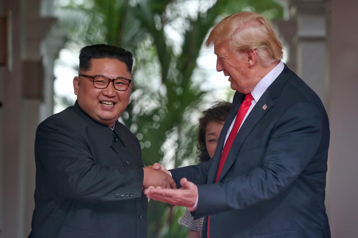 Donald Trump și Kim Jong-un - față în față
