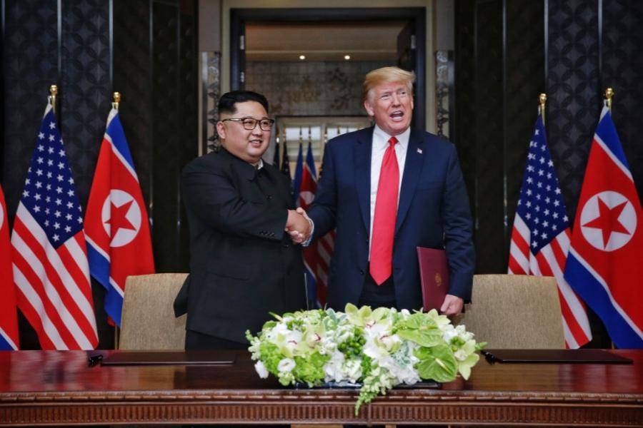 Donald Trump și Kim Jong Un la Singapore