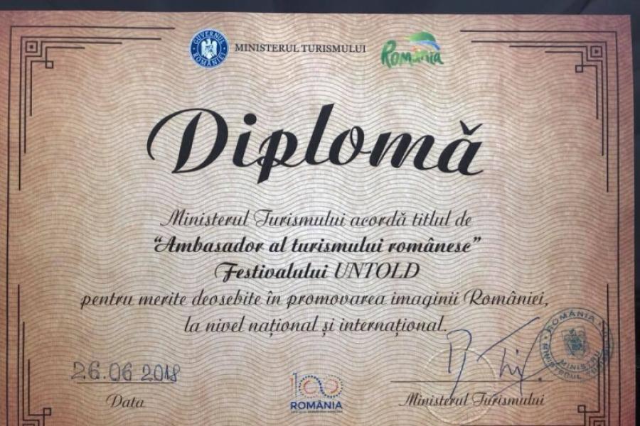 UNTOLD, ambasador al turismului românesc