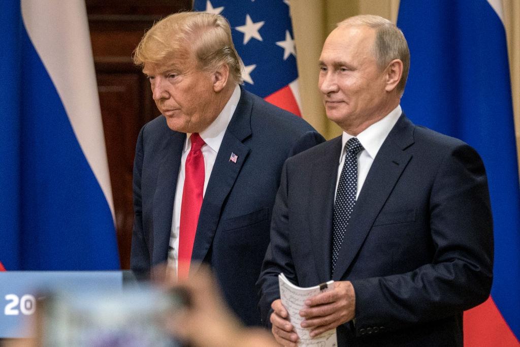 Donald Trump și Vladimir Putin la Helsinki