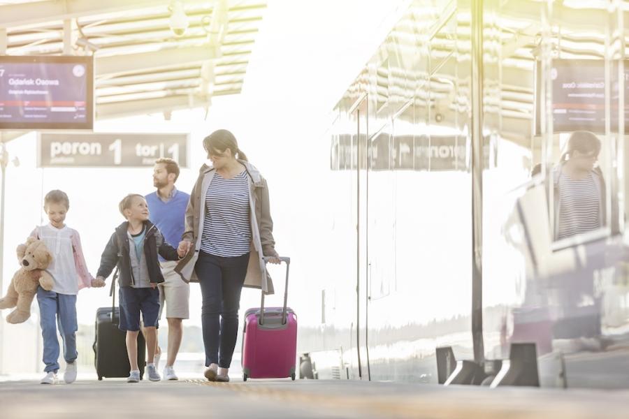 Familie aeroport