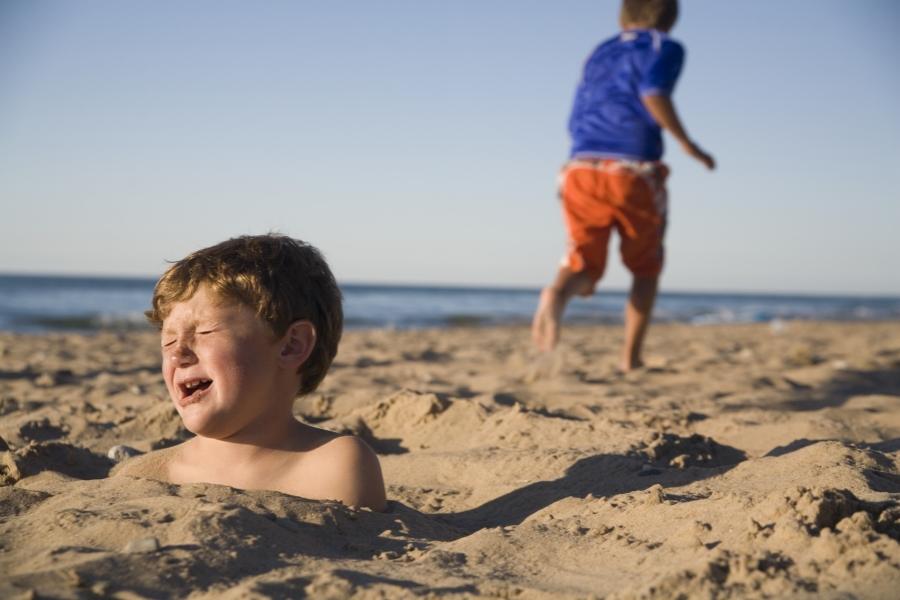 Copii plajă