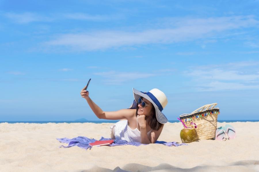 Selfie la plajă