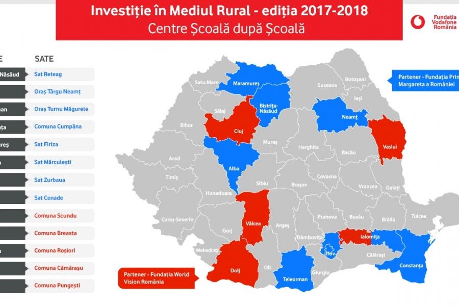 Harta investiție în mediul rural