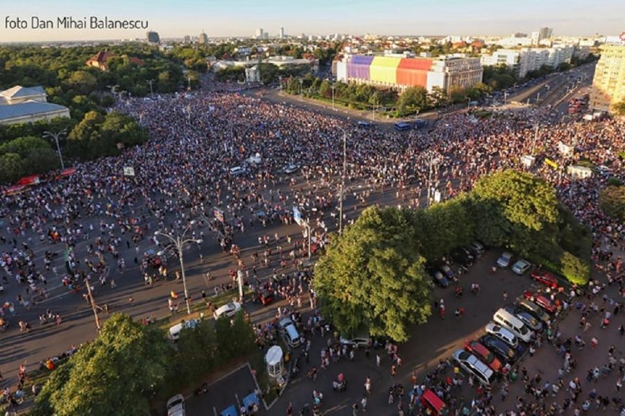 protest - 10 august - Dan Mihai Bălănescu