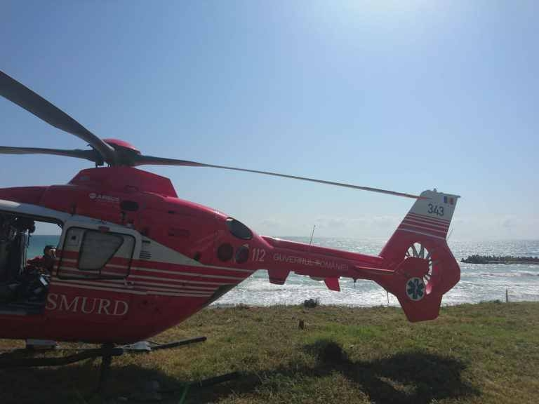Elicopter SMURD la mare
