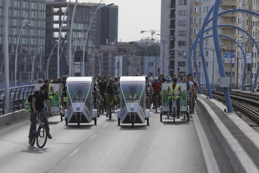 Marșul bicicliștilor în București