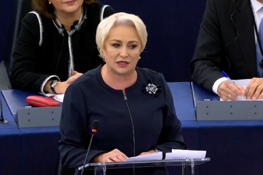 Viorica Dancila in PE - captura video