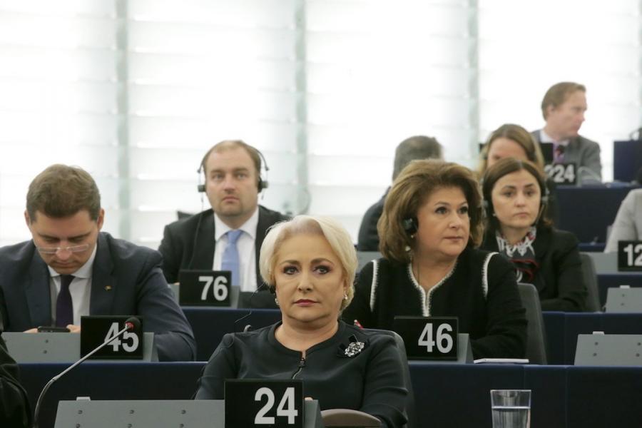 Viorica Dăncilă la Strasbourg