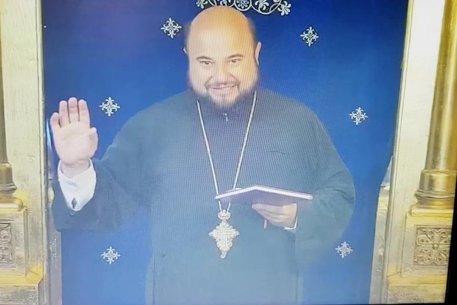 Protodiaconul lui IPS Teodosie, Ioan Ardelean, la predică