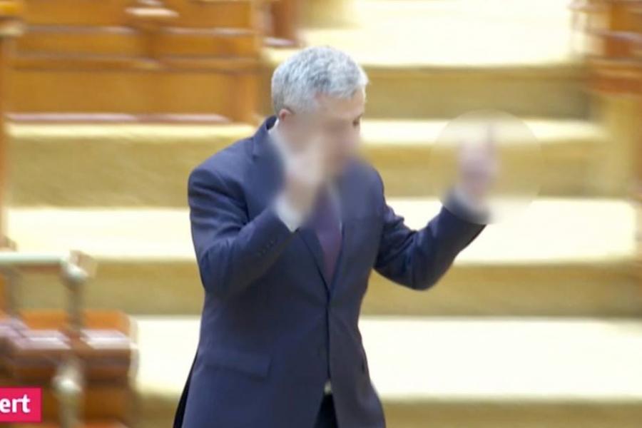 Florin Iordache, gest obscen