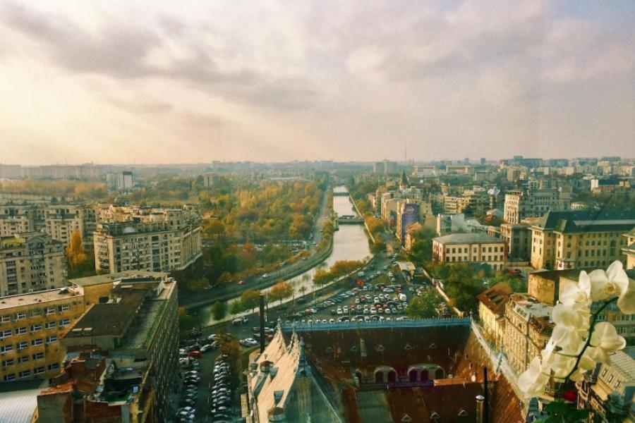 Vedere de la etajul 14