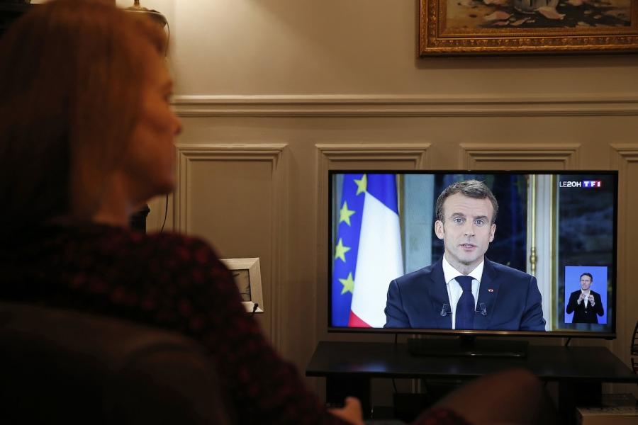 Emmanuel Macron, la TV