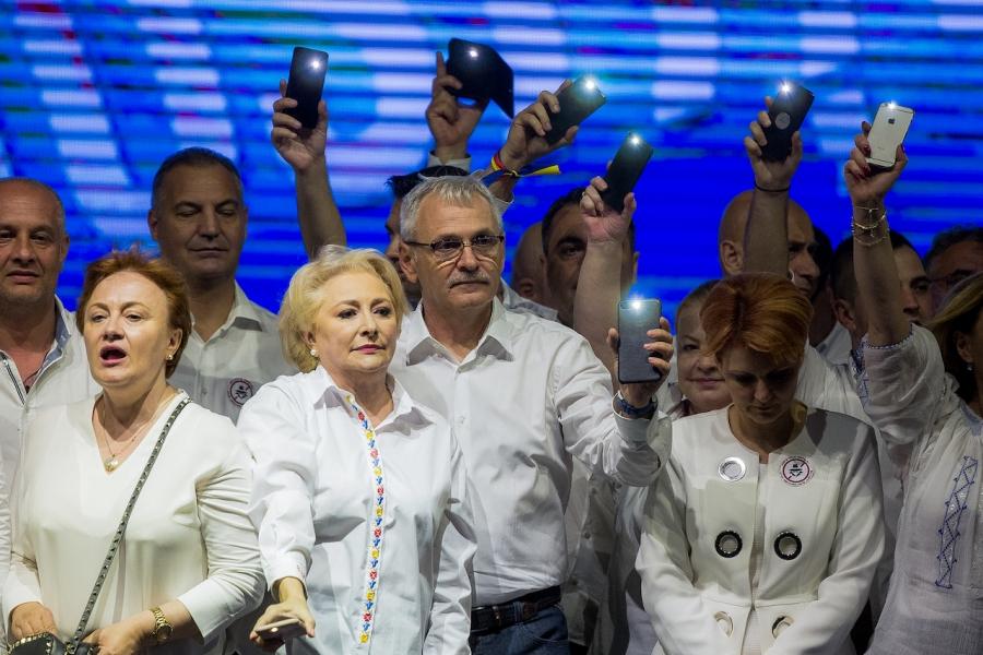 Dragnea, Dăncilă, miting PSD
