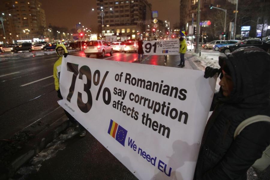 protest UE - Octav Ganea