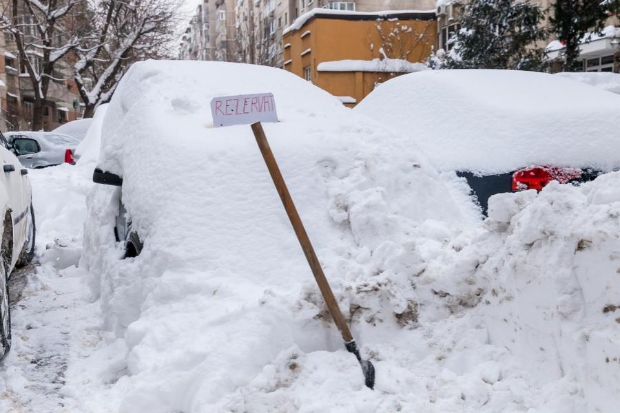 Parcare, iarnă