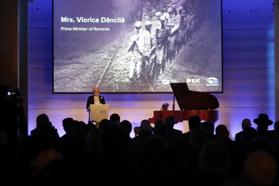 Viorica Dăncilă, conferință Holocaust