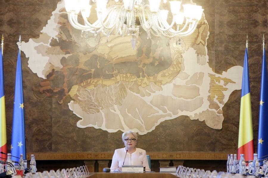 Viorica Dăncilă ședința de Guvern
