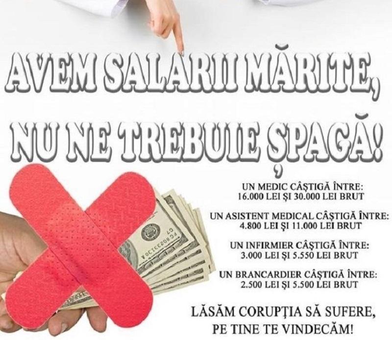 salarii medici - afis