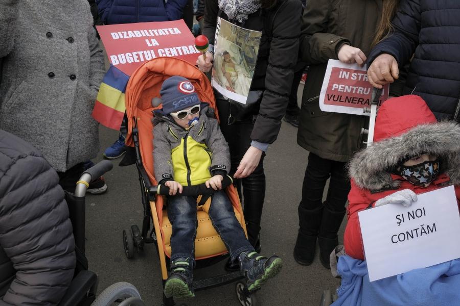 Protest persoane cu dizabilități