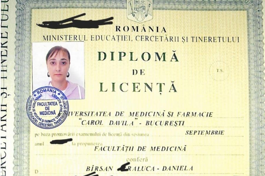 Diploma Raluca Bîrsan