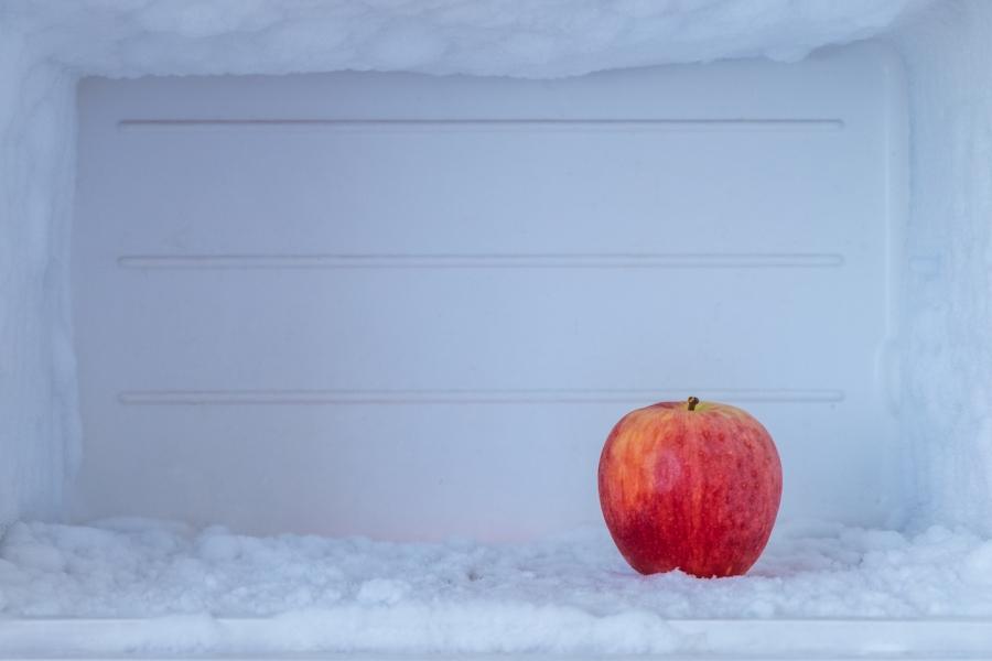 Frigider, măr