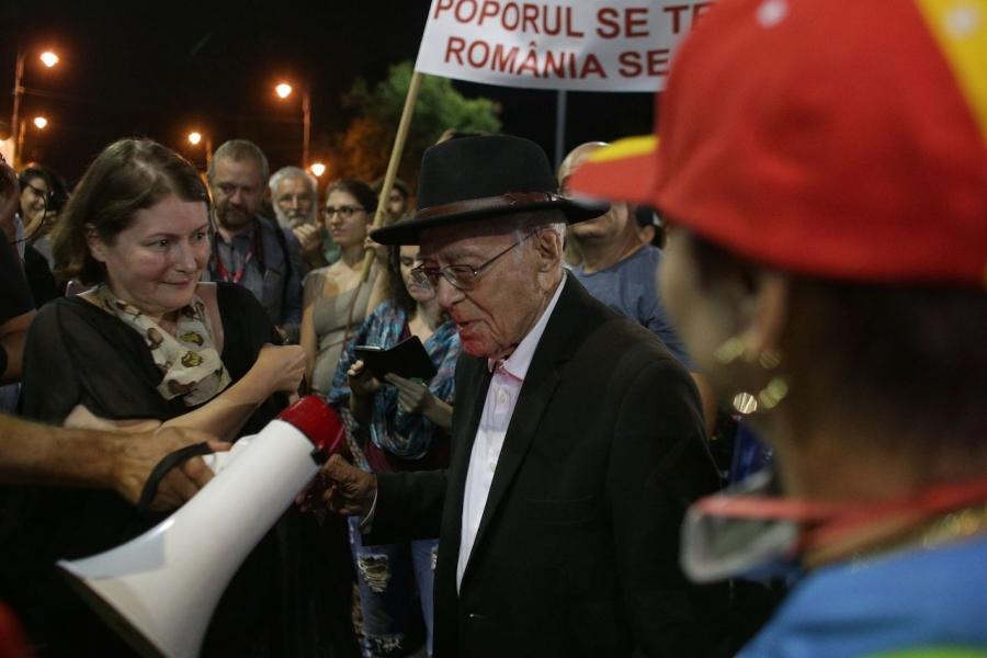 Mihai Șora protest