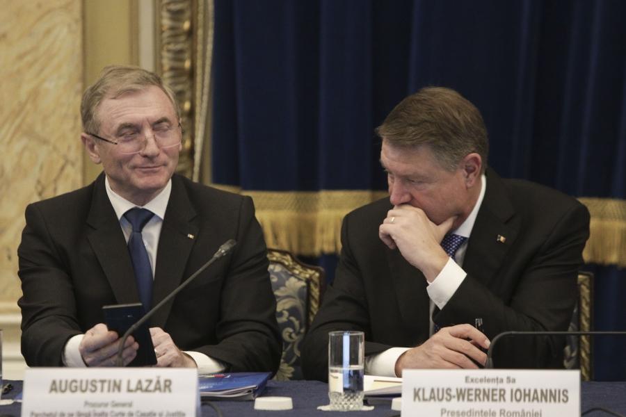 Augustin Lazăr și Klaus Iohannis