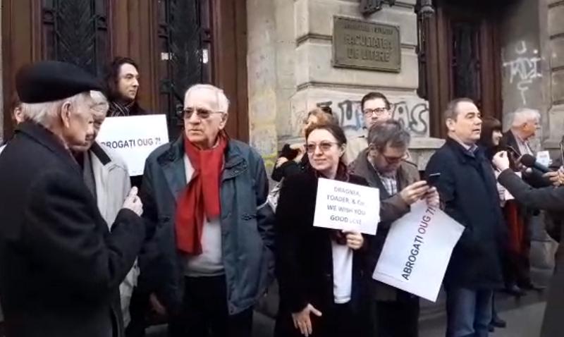 Protest - Universitate - captura