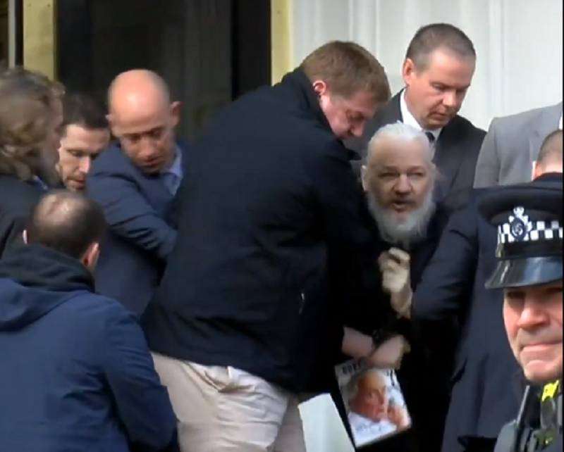 Julian Assange - captura