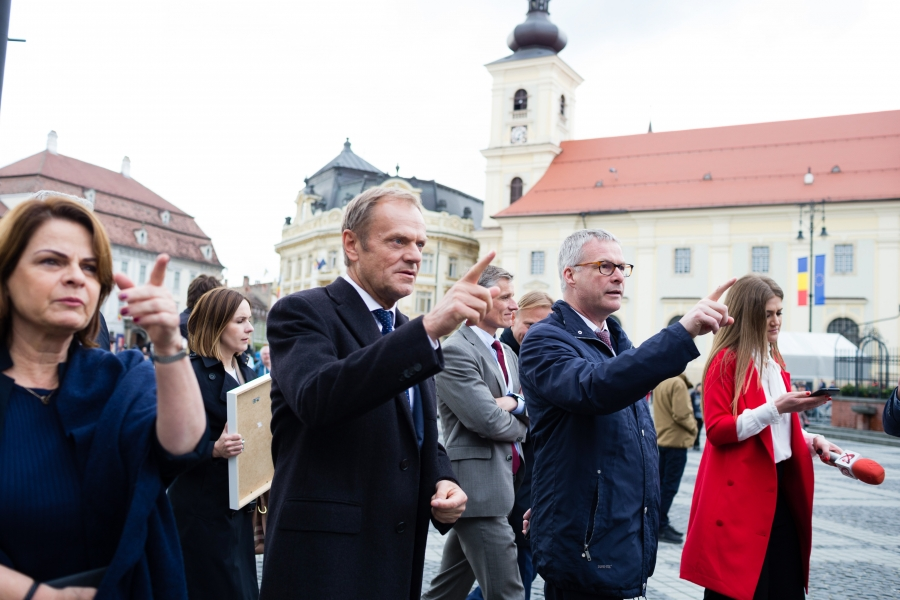 Donald Tusk - summit UE Sibiu - Foto Inquam Photos / Cornel Putan)