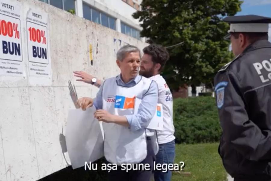 Dacian Cioloș și polițistul din Alexandria