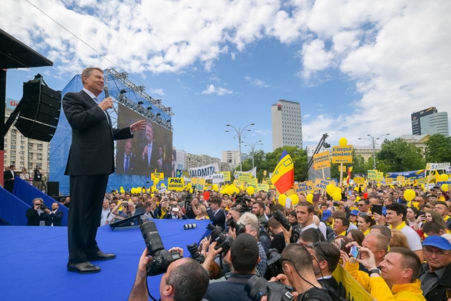 Klaus Iohannis - miting PNL