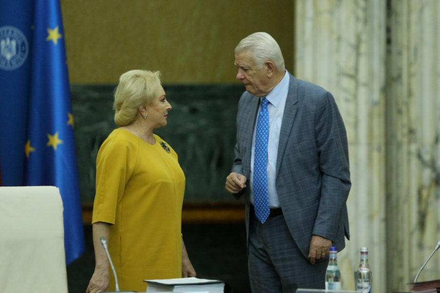 Viorica Dancila - Teodor Melescanu - Inquam Photos / George Calin