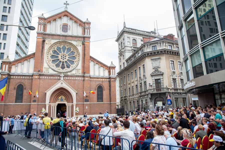 catedrala Sf. Iosif, venirea papei
