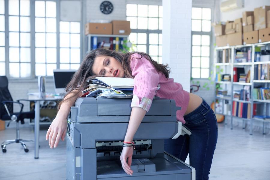 Secretara copiator