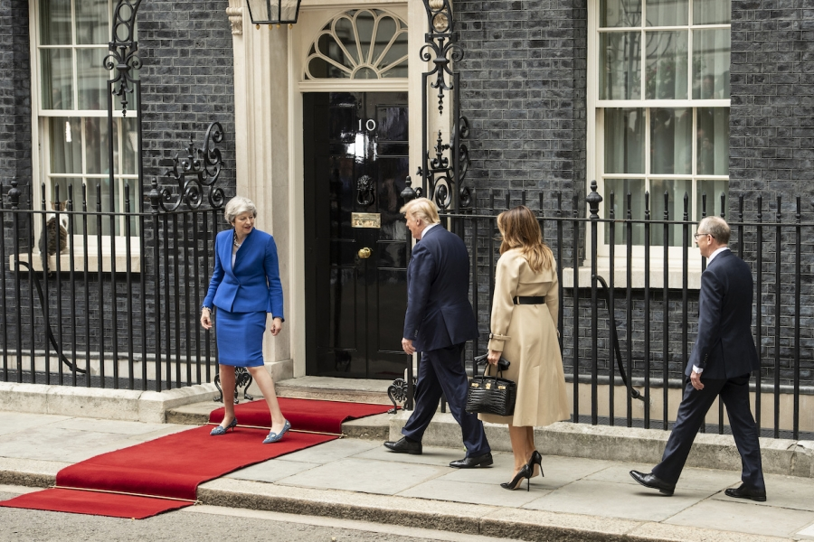 Donald Trump - Theresa May, Downing Street 10