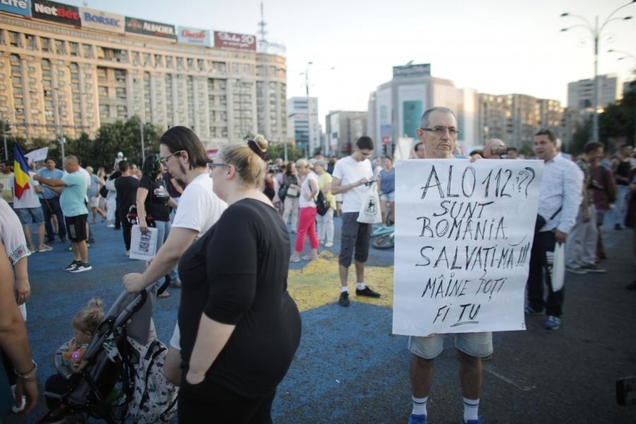 Protest Piața Victoriei 112