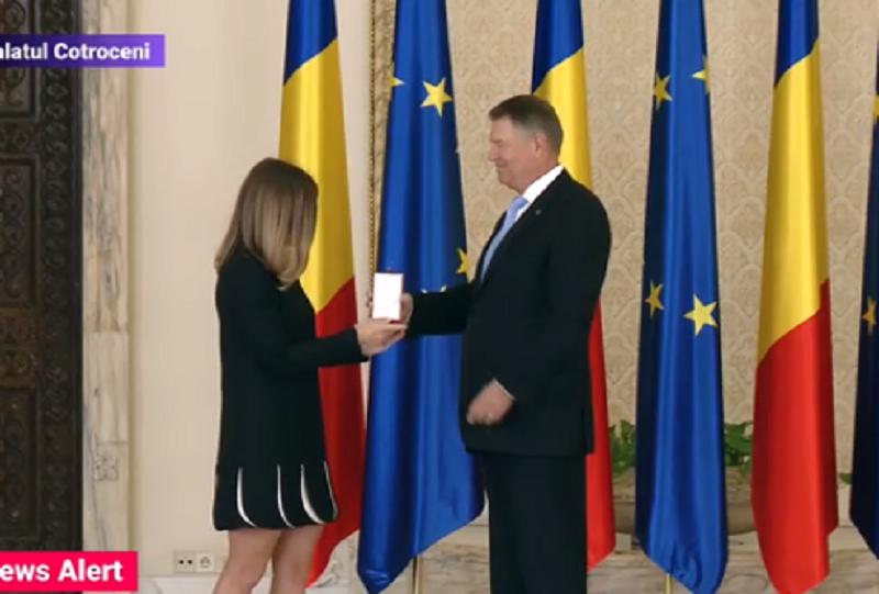 Simona HAlep - Klaus IOhannis