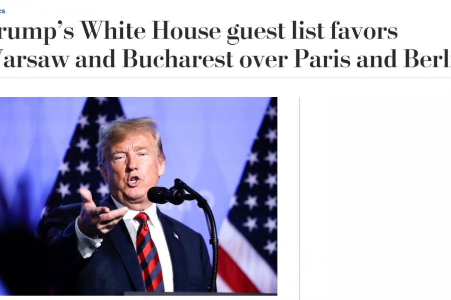 Washington Post despre vizita lui Iohannis la Casa Albă