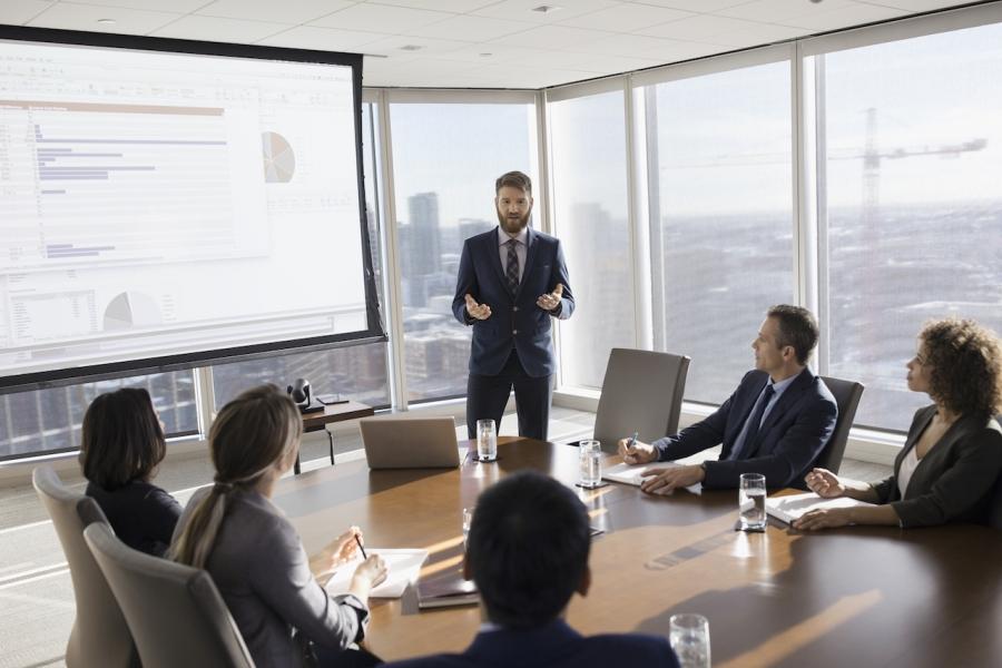 Corporatiști în ședință