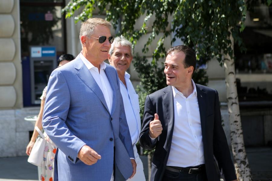 Klaus Iohannis și Ludovic Orban, premier desemnat