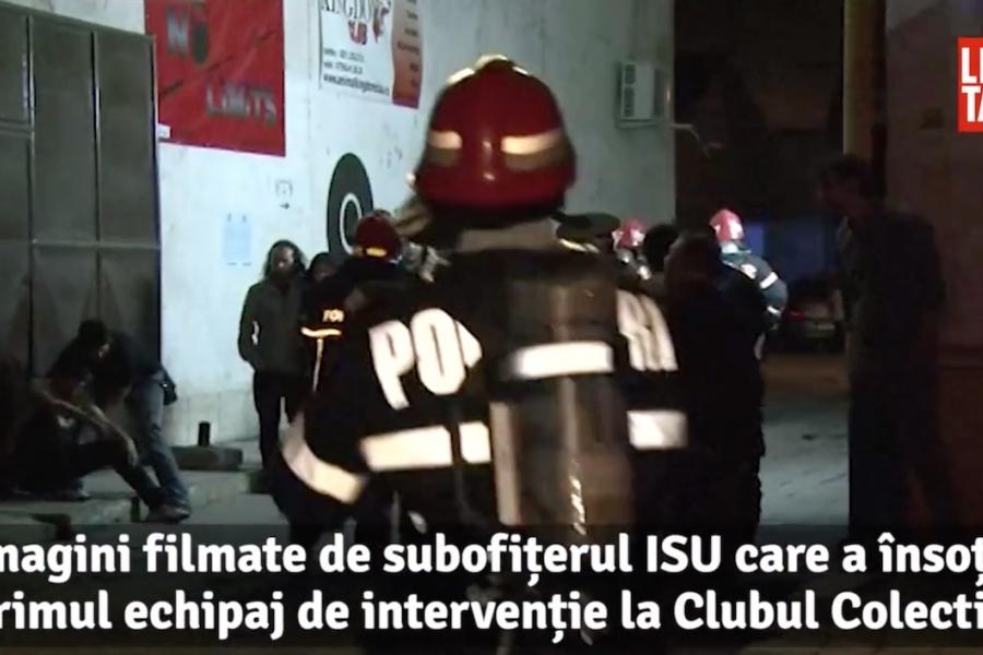 Colectiv, polițiști, pompieri