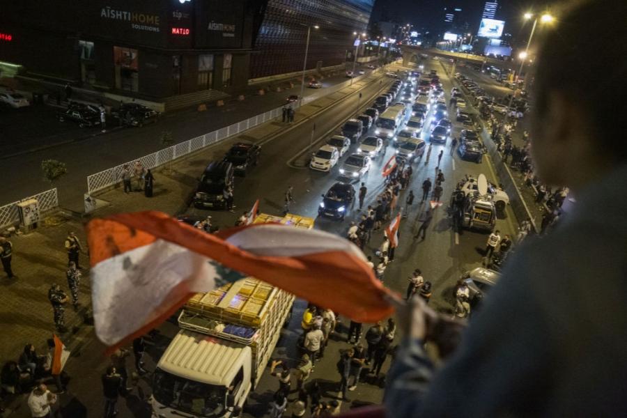 Protest la Beirut