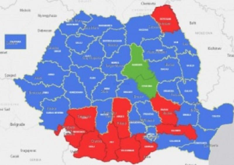 Harta Hotnews - alegeri prezidențiale