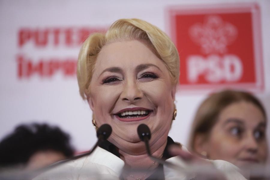 Viorica Dâncilă râde după exit poll-uri
