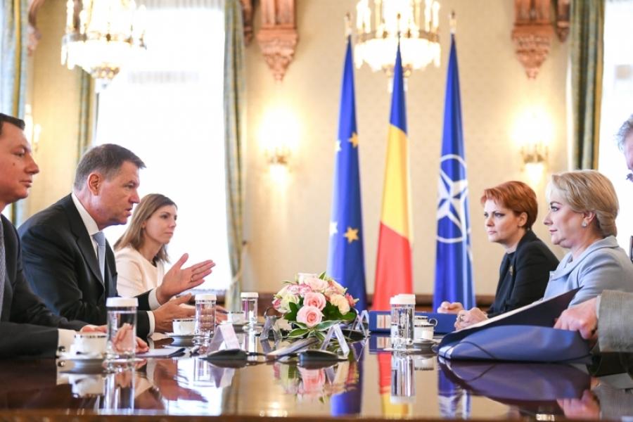 Klaus Iohannis - Viorica Dancila - presidency.ro