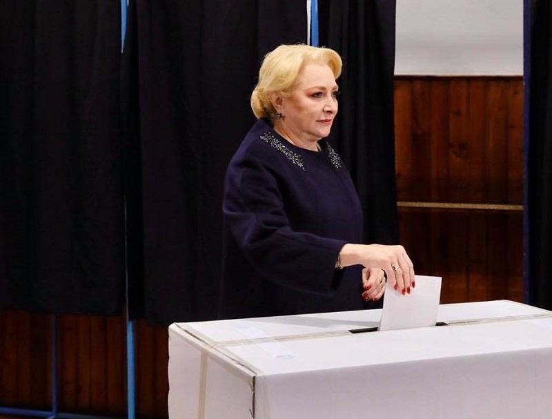 Viorica Dăncilă - vot - Foto Facebook/Viorica Vasilica Dăncilă
