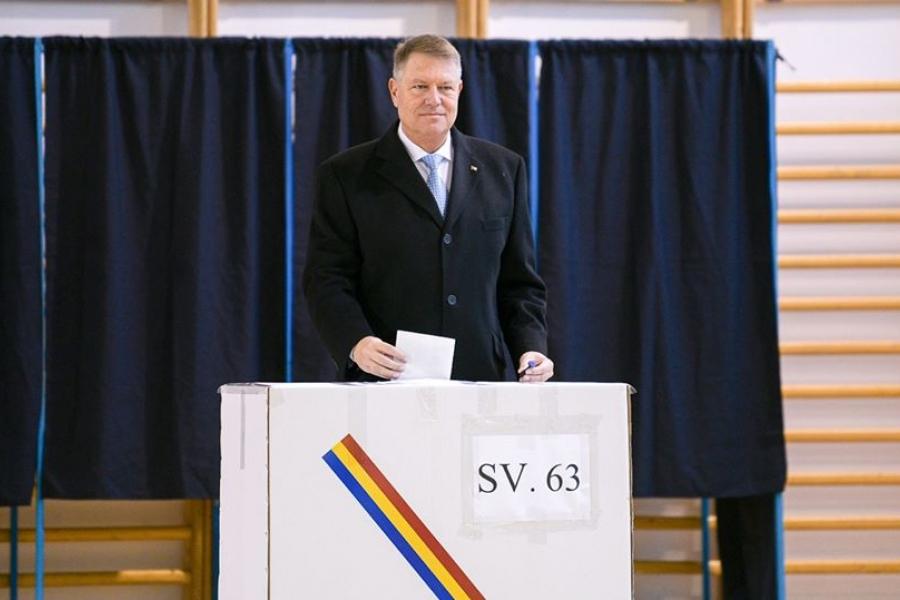 Klaus Iohannis - vot - Foto Facebook/Klaus Iohannis