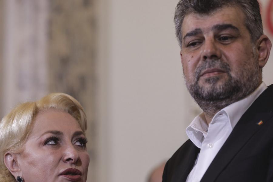 Marcel Ciolacu și Viorica Dăncilă